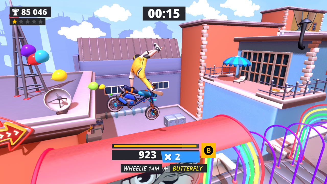 Urban Trial Tricky (Switch) Review – You Spin My Bike Round, Like a Record Baby