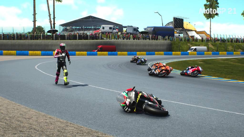 MotoGP 21 fall from bike